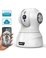 CACAGOO Security Camera 1080P FHD Baby Monitor Wireless Security Dome Camera NEW UPGRADED With Motion Detection Night Vision Home Surveillance Pan/Tilt/Zoom Monitor with 2-Way Audio for Baby/Pet/Elder