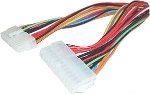 Cablematic - Extensor de cable de alimentación ATX de 30cm (M/H 24-pin)