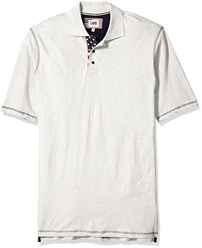 Lee Men's Vintage Slub Polo Shirt, Off White, 5XB