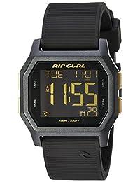 Rip Curl 'Atom' Quartz Plastic and Silicone Sport Watch, Color:Black (Model: A2701-GOL)
