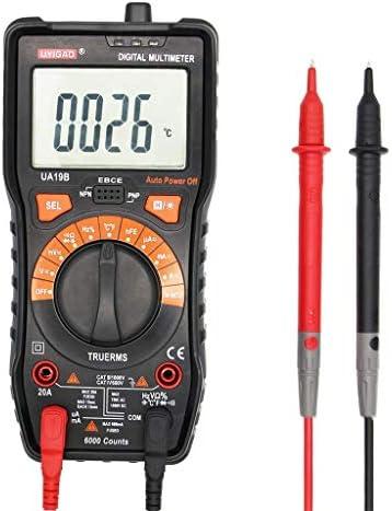 Tyannan デジタルマルチメータ表示ハンドヘルドハンドヘルドデジタル抗火マルチメータの測定温度、電流、バッテリ電圧、抵抗、静電容量