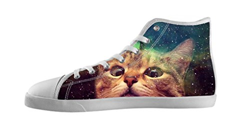Dalliy Galaxie Katze Galaxy Cat Mens Canvas shoes Schuhe Lace-up High-top Footwear Sneakers Segeltuchschuhe C