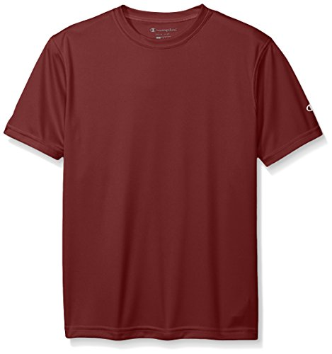 [Champion Boys Big Double Dry Short Sleeve Tee, Maroon, Medium] (Maroon Kids Shirt)