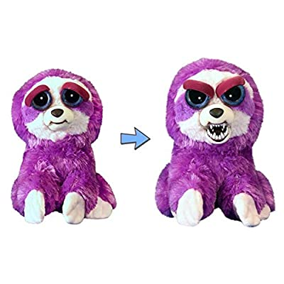 Feisty Pets Plush Purple Sloth-Lightningbolt Lucy: Toys & Games