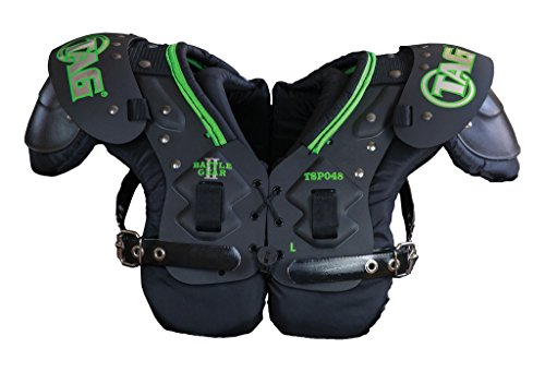 TAG Battle Gear II Youth Football Shoulder Pad TSP48 (Buckle Side Strap) Large