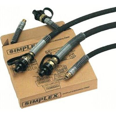 HC Series High Pressure Hoses - 18170 1/4''id 6' hose w/coupling by Simplex