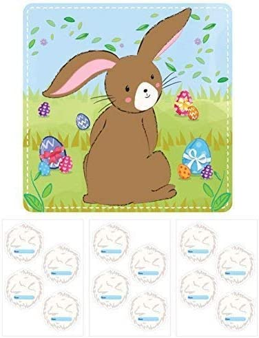 HENBRANDT Stick the Tail on the Bunny Kids Easter Activity Game