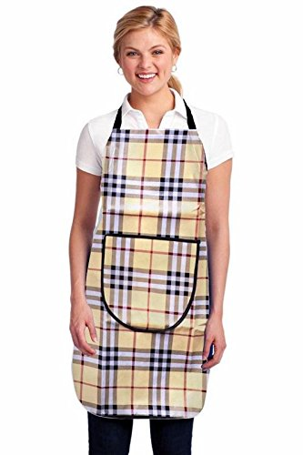 Jass Home Decor Waterproofs Free Size Kitchen Apron with Front Pockets in Multi Colour (Pack of 1)