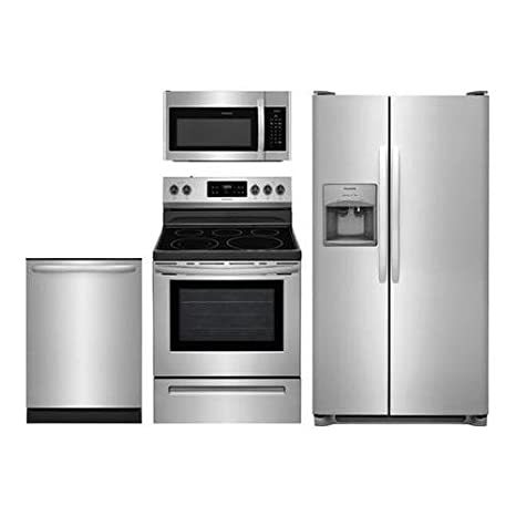 Amazon.com: Frigidaire 4-Piece Stainless Steel Package,FFSS2615TS 36 ...