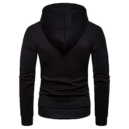 Col T Noir Capuche Homme Décontracté Tee À shirt Manches shirt Blouse Sweat Mode a Longues Hiver Itisme Sweat Top Printemps Rond Tops Outwear Automne S488xYB