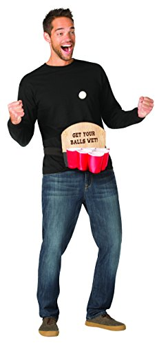 Beer Dong Pong Costume, Adult Red, Black ()