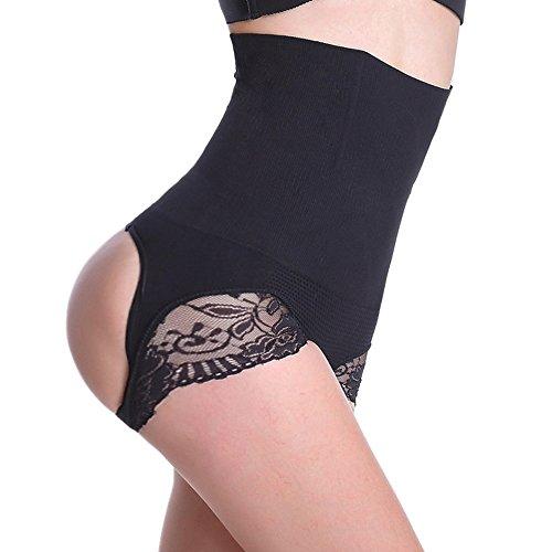Evenriver Hi-waist Shapewear Tummy Control Body Shaper Seamless Thigh Slimming,Black,X-Large/XX-Large