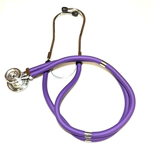 Lane Sprague Rappaport Stethoscope (Purple), comes with a complimentary Retractable ID Clip and a name tag.