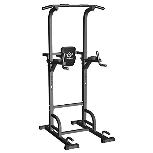 CITYBIRDS Power Tower Dip Station Pull Up Bar for Home Gym Strength Training Workout Equipment, 400LBS. (Renewed)