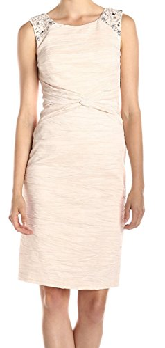 Jessica Howard Women's Twist Front Boat Neck Dress, Champagne, 10