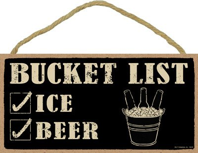 "Used, SJT ENTERPRISES, INC. Bucket List (ice & Beer) 5"" x for sale  Delivered anywhere in USA"