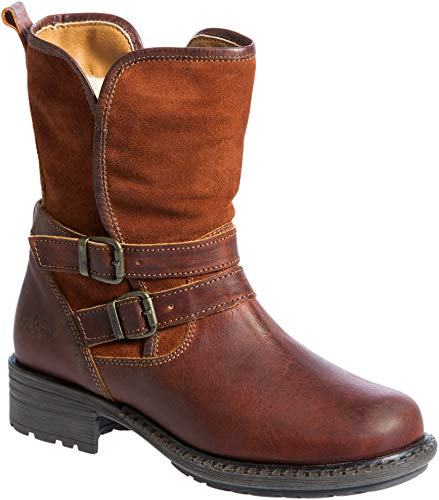 - Women's Bos & Co Sahara Wool-Lined Waterproof Leather & Suede Boots