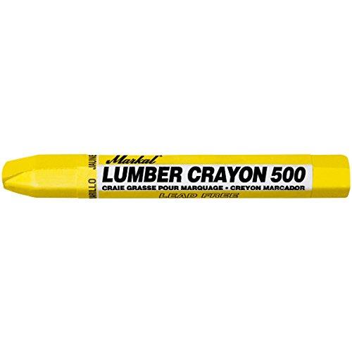 Markal 500 Lumber Crayon Clay Based Marker, 1/2