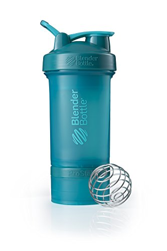 BlenderBottle ProStak System with 22-Ounce Bottle and Twist n' Lock Storage, Teal ()