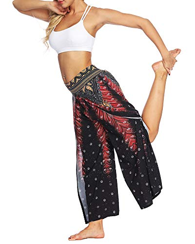 Floral Pants Pantalons Style 2 Eéléphants Taille Femmes Harem Smockée Boho Missmao Funky qpwXH4w