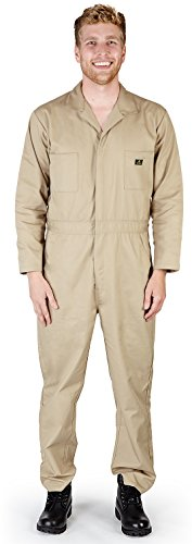 Natural Workwear - Mens Long Sleeve Basic Blended Coverall, Khaki (Spaceballs Costume)
