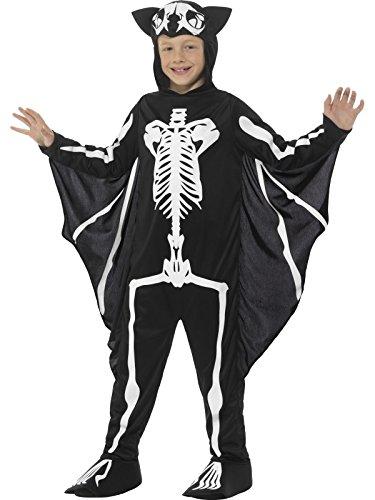 [Smiffy's 45123L Bat Skeleton Costume, Black/White, Large] (Skeleton Wings Costumes)