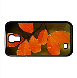 Orange Leaves Watercolor style Cover Samsung Galaxy S4 I9500 Case (Autumn Watercolor style Cover Samsung Galaxy S4 I9500 Case)