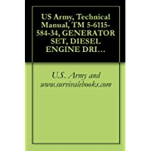 US Army, Technical Manual, TM 5-6115-584-34, GENERATOR SET, DIESEL ENGINE DRIVEN, TAC SKID MOUNTED, 5 KW, 1 PHASE, 2 WIRE, 1 PHASE, 3 WIRE, 3 PHASE, 120