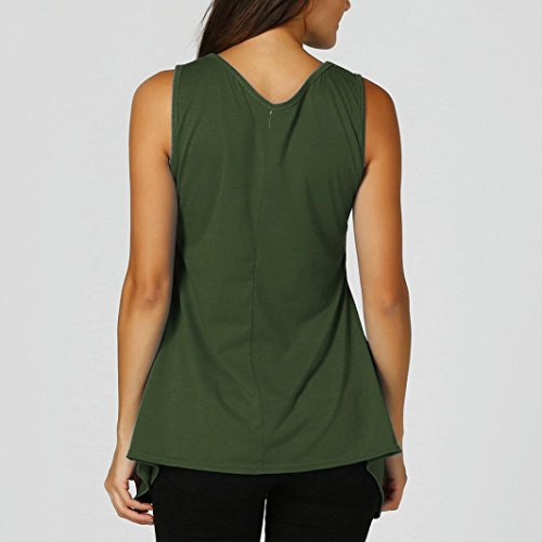 Irrgulier Femme Chemisier Traverser Arme Verte Hem Tank Manche T Dbardeur Gilet Shirt Sexyville Tops Vest sans fHx5tt