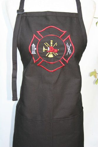 Black Embroidered Apron