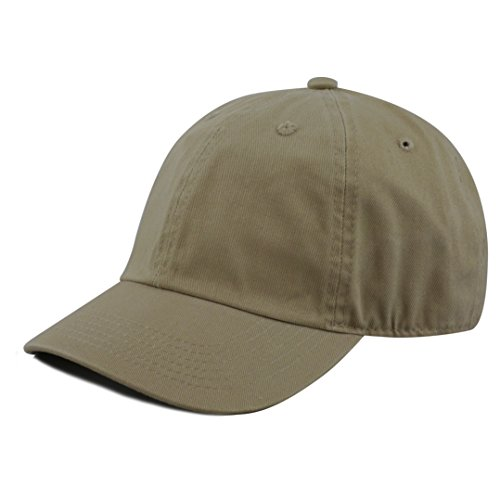 - The Hat Depot Kids Washed Low Profile Cotton and Denim Baseball Cap (Olive)