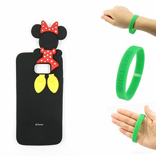 S6 Edge Plus Case,Galaxy S6 Edge Plus Minnie Mickey Case,Bat King 3D Cute Cartoon Mouse Minnie Soft Silicon Gel Rubber Case Cover Skin for Samsung Galaxy S6 Edge Plus G928 5.7 inch(Hide Minnie)