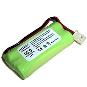 HQRP Phone Battery for VTech CS6124, CS6124-11, CS6124-2, CS6124-21, CS6114, CS6114-11, CS6114-2, CS6114-21, CS6309, CS6319, CS6319-2, CS6319-3, CS6319-4, CS6319-5 Cordless Telephone + Coaster