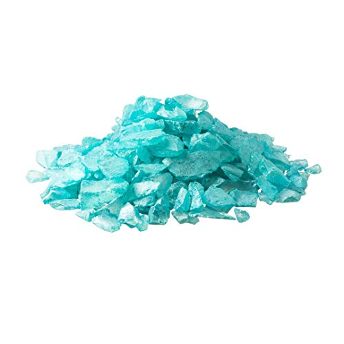 Blue Pearlized Sea Glass Chips |2 Pounds for Decoration | Ocean Blue Colored Sea Glass for Craft | Plus Free Nautical Ebook by Joseph -