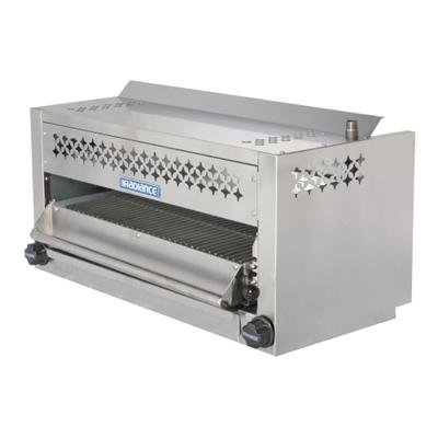 Turbo Air TASM36 36'' Salamander Broiler with Stainless Steel Construction Rolling Out Grid Removable Grease Pan Individual Gas Controls 5 Locking Position and Adjustable Gas Valve: by Turbo Air