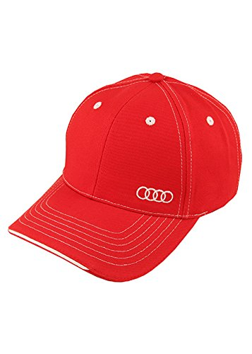 AUDI ACM4101 Red One Size Sandwich Trim Cap (Cap Audi)