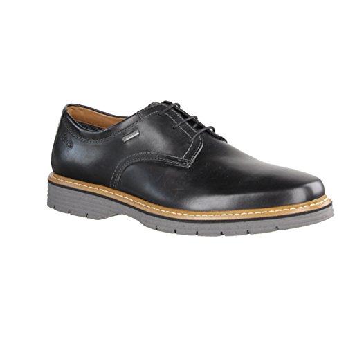 Clarks scarpe in pelle modern-elegante Newkirk Go GTX Uomo in nero