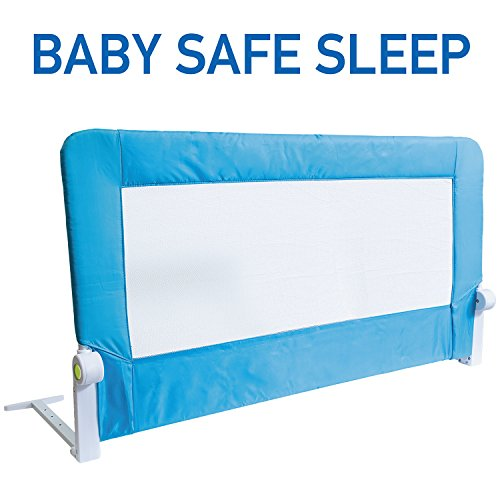 Tatkraft Guard Foldable Bed Rail Guard Baby Safe Sleep 120X47X65cm Powder Coated Steel Plastic Polyester by Tatkraft