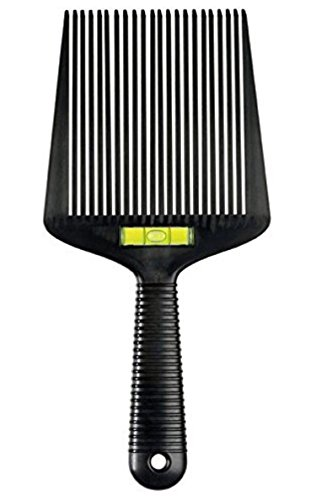 Barber Hair Comb Wide Flat-Top Comb (Flatopper) Accurate Water Levelling System (Dark Flattop)