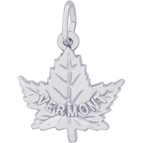 (Rembrandt Charms Sterling Silver Vermont Maple Leaf Charm (15.5 x 16 mm))
