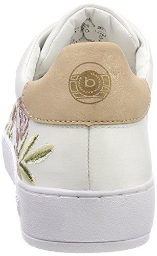 Bugatti Damen 421291056959 Sneaker Weiß (White/ Multicolour)