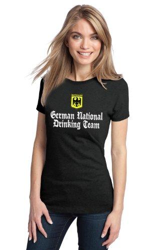 GERMAN NATIONAL DRINKING TEAM Ladies' T-shirt / Funny Germany Beer Tee