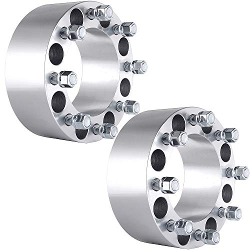 ECCPP 8 Lug Wheel Spacers Adapters 8x6.5 to 8x6.5 3 inch 75mm 125mm CB fits for Ford F250 Ford F350 Econoline Dodge RAM 2500 3500 DUALLY with 9/16x18 Studs Lug Nuts