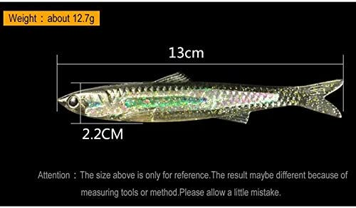 WATERMELON 1PCS 13cm 13g Soft Fishing Lure Aluminum Inside Curved Available Artificial Fishing Soft Lure Pesca Leurre 5 Colors