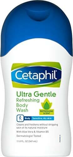 Body Washes & Gels: Cetaphil Ultra Gentle Refreshing Body Wash