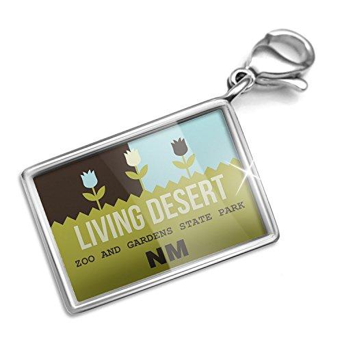 Clip on Charm & Bracelet Set US Gardens Living Desert Zoo and Gardens State Park - NM Lobster Clasp
