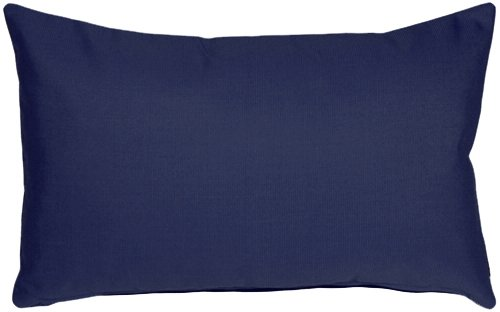Pillow Decor - Sunbrella Navy Blue 12x20 Outdoor Pillow by Pillow Decor