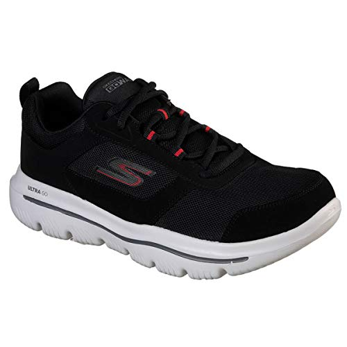Ultra Bkrd Synthetic Skechers black Trim Uomo Nero Evolution enhan red Go Walk Sneaker qwFfROx