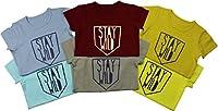 Andiler Toddler Baby Boys 9M-24M Slub Cotton Crewneck Shortsleeve T-shirt