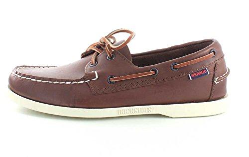Sebago Docksides Leather Bleues Cuero marrón